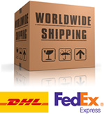 Shipping worldwide (DHL FedEx)